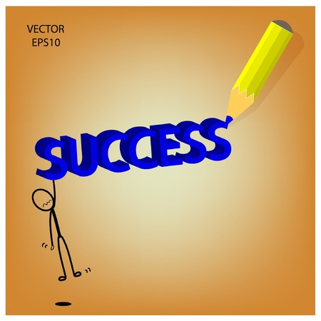 success word sketching by color pencil Stock Vector - 19124088