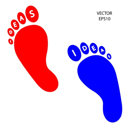 foot prints sign, vector illustration Vector