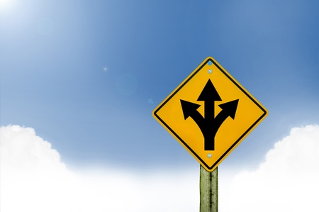 sign road on board with sky background,abstract sign,business symbol Stock Photo - 19175918