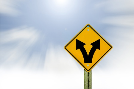 sign road on board with sky background,abstract sign,business symbol Stock Photo - 19175906