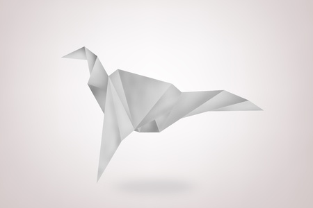 paper bird on background,freedom symbol photo