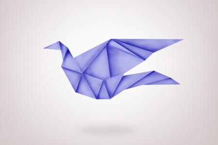 paper bird on background,freedom symbol photo
