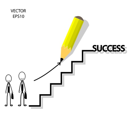 business concept,way of success,pencil design,vector Stock Vector - 20334096
