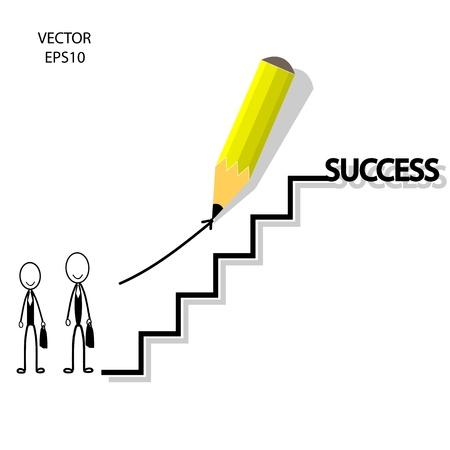 business concept,way of success,pencil design,vector Stock Vector - 20334096