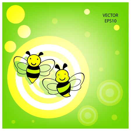flying bee on white background , bee icon,bee drawing,bee outline Vector