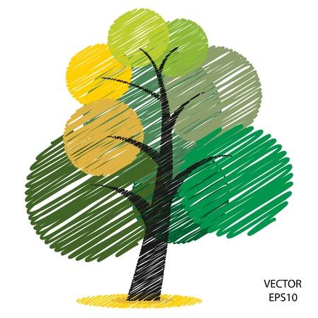 Couleur symbole de l'arbre, arbre icône, icône entreprise, boîte de textes Banque d'images - 20603517