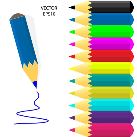 Pencil icon isolated on white Stock Vector - 20776172