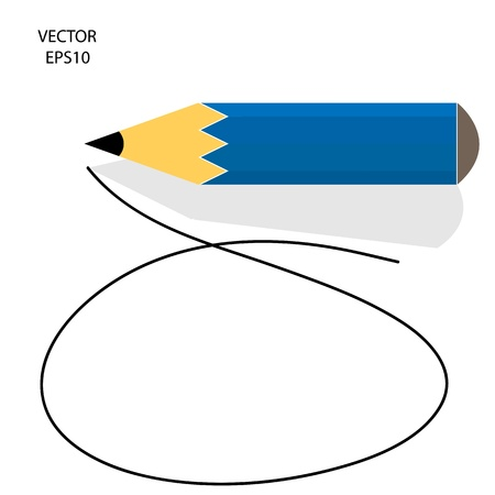 Drawing   sketching by color pencil, business concept, vector Stock Vector - 20776224