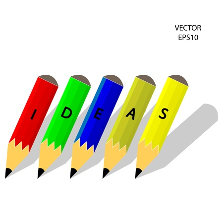 Drawing   sketching by color pencil, business concept, vector Stock Vector - 20776213