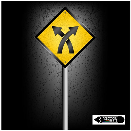 road sign on background ,business concept ,vector Vector