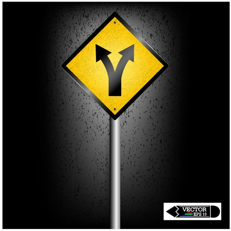 two way traffic: road sign on background ,business concept ,vector Illustration