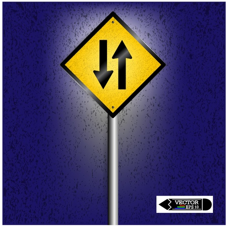 bifurcation: road sign on background ,business concept ,vector Illustration