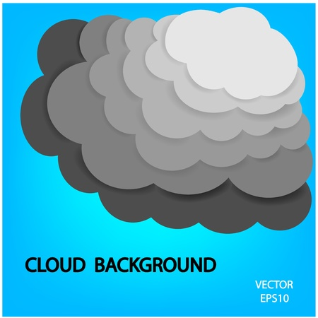 cloud background, vector Vector