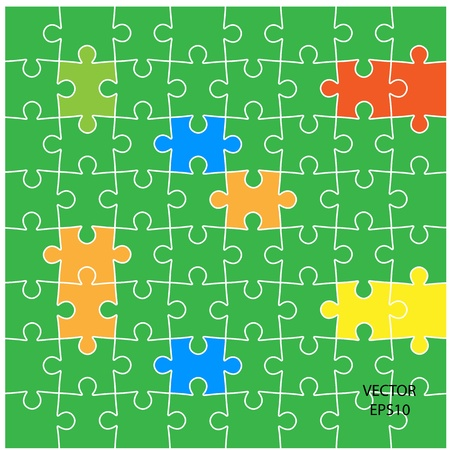 colorful puzzle background ,business ideas ,vector Stock Vector - 20823468
