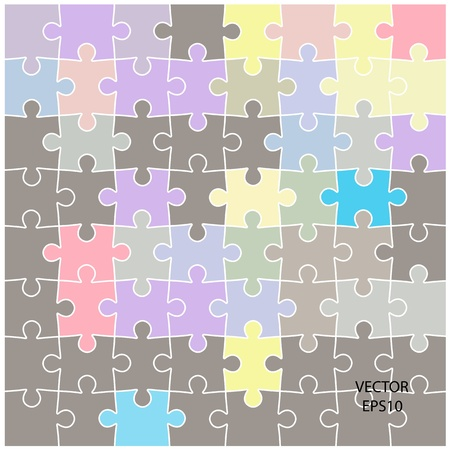 colorful puzzle background ,business ideas ,vector Stock Vector - 20823469