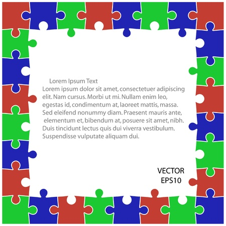 colorful puzzle background ,business ideas ,vector Stock Vector - 20823530