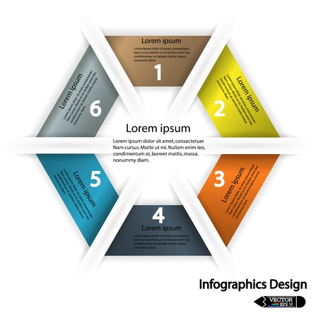modern hexagon infographics options banner  Vector illustration  can be used for work flow layout, diagram, number options, web design  Vector