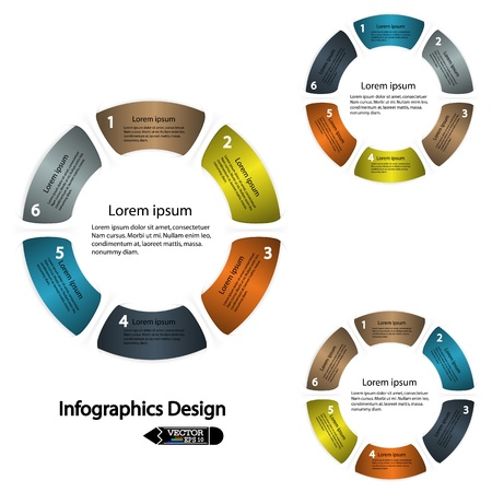 modern circle infographics options banner  Vector illustration  can be used for work flow layout, diagram, number options, web design
