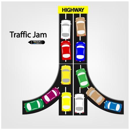 traffic jam: traffic jam symbol ,vector