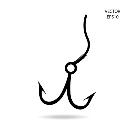 fishing hook icon Stock Vector - 21281550