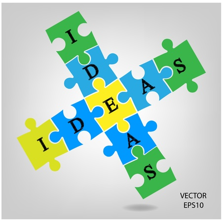 colorful puzzle background ,business ideas ,vector Stock Vector - 21281572