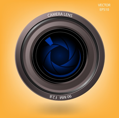 Camera lens on background,vector Vector