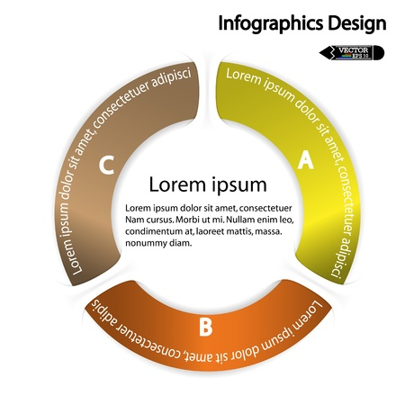 modern circle infographics options banner  Vector illustration  can be used for work flow layout, diagram, number options, web design  Vector