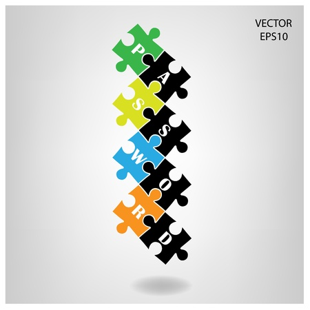 jig saw: colorful puzzle background ,business ideas ,vector