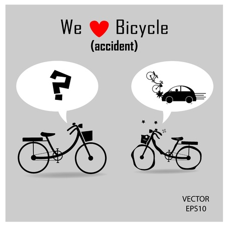 bicycle icons with grey background ,vector Vector