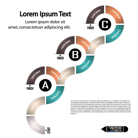 modern circle infographics options banner  illustration  can be used for work flow layout, diagram, number options, web design  Vector