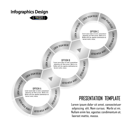 modern circle infographics options banner illustration  can be used for work flow layout, diagram, number options, web design Stock Vector - 21446963