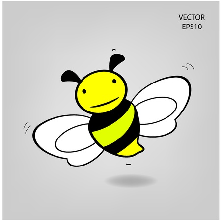 bee icon, bee drawing Vector