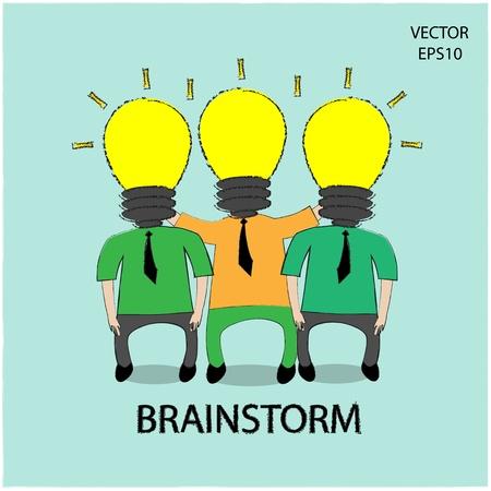 juntos: Icono del hombre de negocios, concepto de negocio