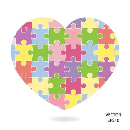 romance strategies: Puzzle Heart Illustration