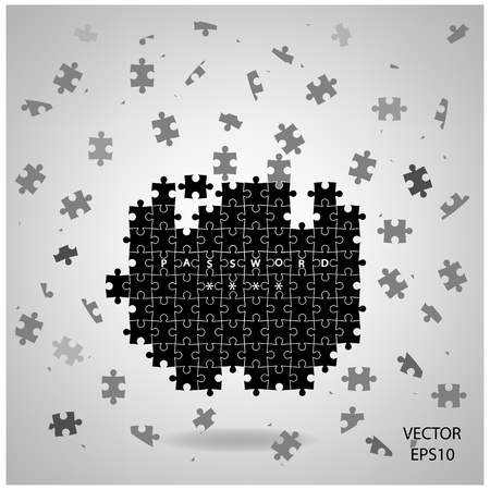 colorful puzzle background ,business ideas Stock Vector - 21447221