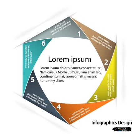 modern hexagon infographics options banner, illustration  can be used for work flow layout, diagram, number options, web design  Vector