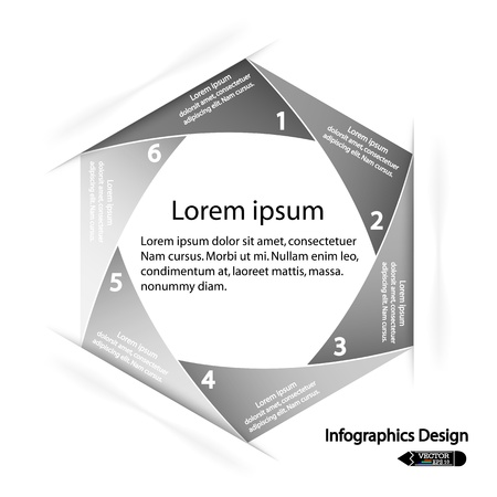 modern hexagon infographics options banner,illustration  can be used for work flow layout, diagram, number options, web design  Stock Vector - 21473181