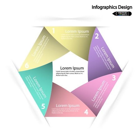 beat brochure: modern hexagon infographics options banner, illustration  can be used for work flow layout, diagram, number options, web design  Illustration