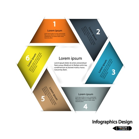 modern hexagon infographics options banner,illustration  can be used for work flow layout, diagram, number options, web design  Illustration