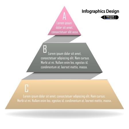 forme: modèle de présentation colorée avec des chiffres et de la place pour votre texte