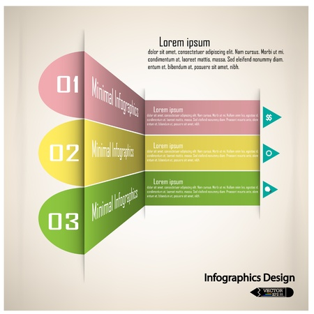 Modern colorful infographics options banner  can be used for work flow layout, diagram, number options, web design or presentation template   ,vector  Vector