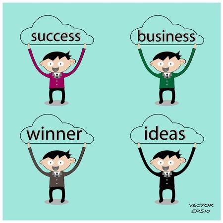 Business man,ideas concept,business symbol,vector Vector