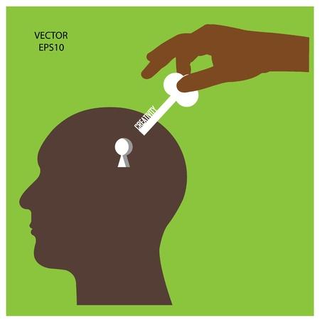 key of success  business ideas,vector Vector