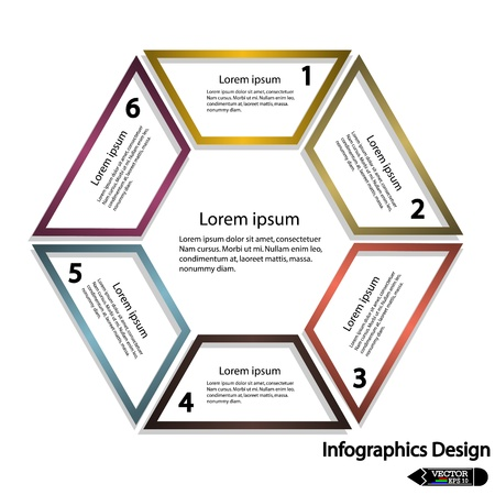 Modern hexagon banner  Vector illustration for workflow layout, diagram, number options or presentation Vector