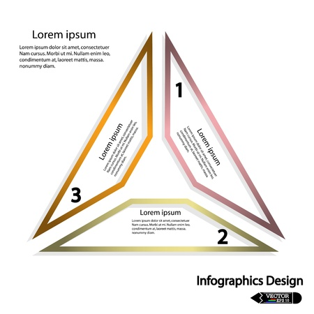 Modern triangle banner  Vector illustration for workflow layout, diagram, number options or presentation Vector
