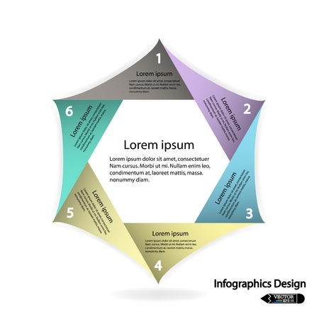 modern hexagon infographics options banner  Vector illustration for work flow layout, diagram, number options, web design or presentation  Vector