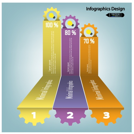 colorful infographics options banner  Vector illustration for workflow layout, diagram, number options, step up options, web design, infographics or presentation template Stock Vector - 21764463