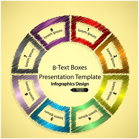 scribble infographics banner,for workflow layout, diagram, number options, web design or presentation Vector