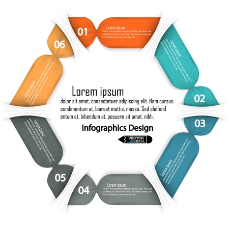 clean hexagon infographics options banner  Vector illustration  can be used for work flow layout, diagram, number options, web design  Vector
