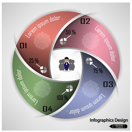 circle chart: Design clean banners template graphic or website layout